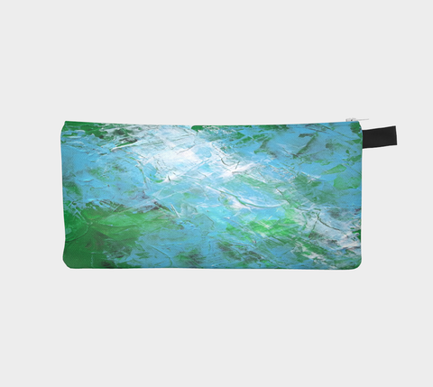 Abstract Light Blue Green Pencil Case 1047
