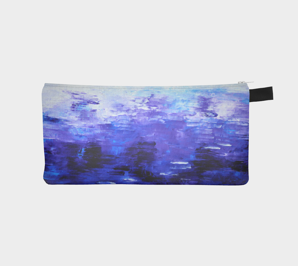 Abstract Indigo Blue Pencil Case #1022