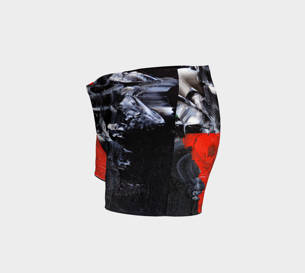Abstract Red Black White Shorts 1069