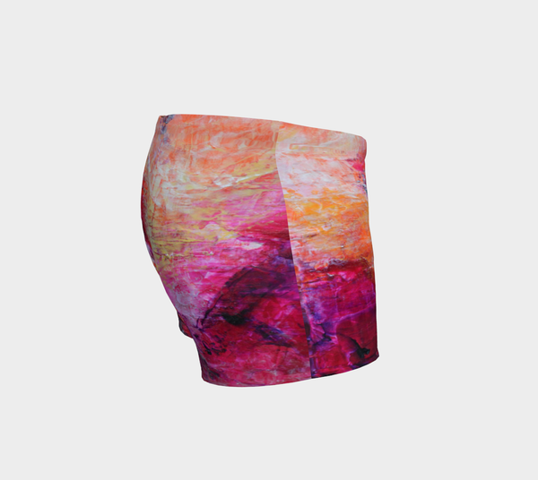 Abstract Heart - Pink Orange Fuchsia Shorts 1067