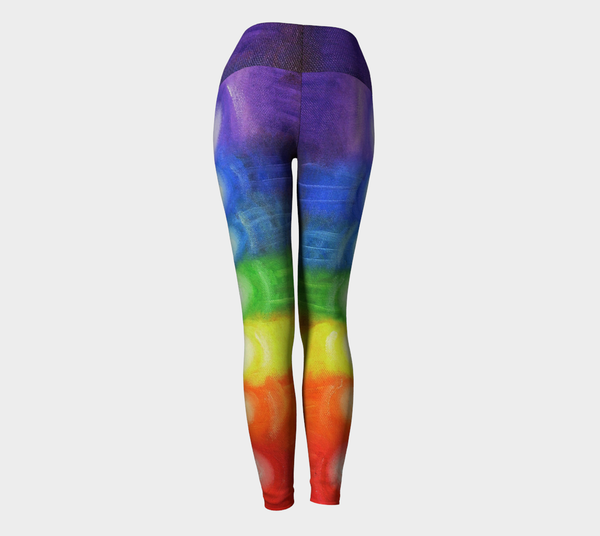 7 CHAKRAS - Yoga Leggings Rainbow Colors 1034