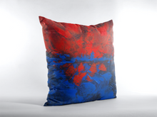 THROW PILLOW  Red Blue Abstract Art Printed Design