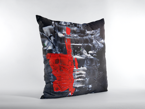 Black Red Decorative Accent THROW PILLOW