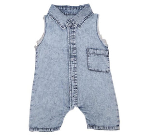 Sleeveless Acid Wash Onesie