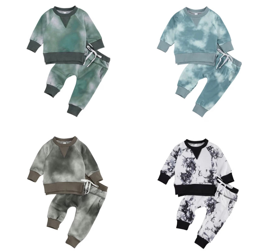 Tie-Dye Tracksuit Set - 4 Colours