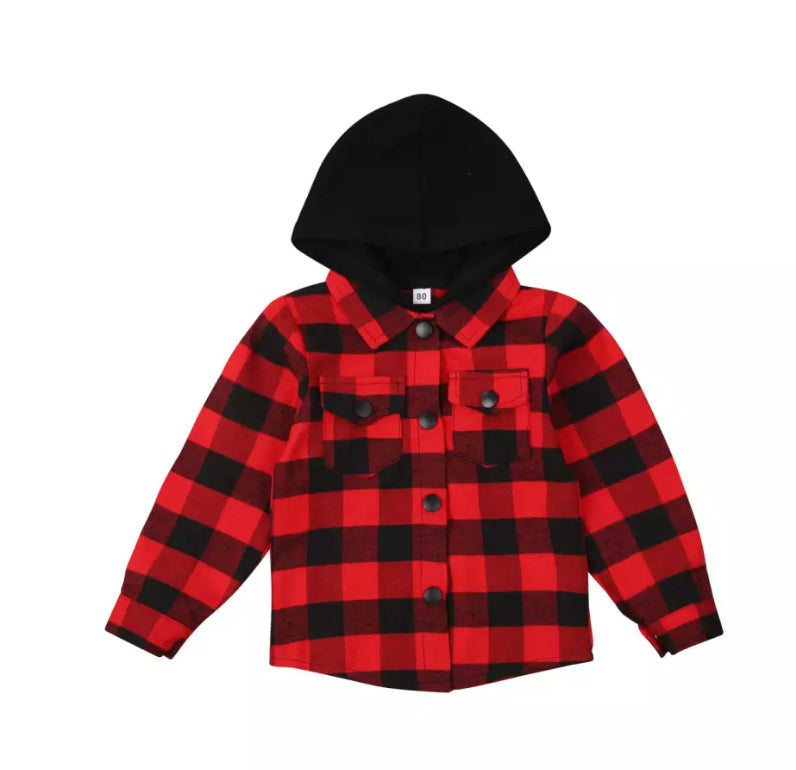 Hooded Flanno Tee - 4 Colours