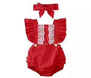 Amity Romper - Red