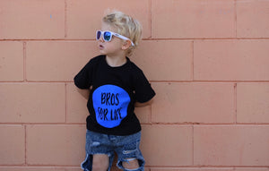 Bros For Life Tee - Blue Vinyl