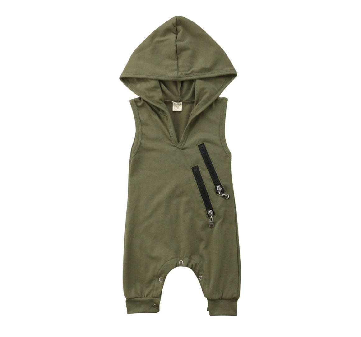 Khaki Hooded Onesie