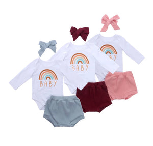 Rainbow Baby Bloomer Set - 3 Colours