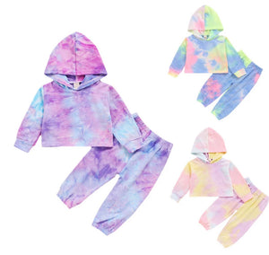 Tie-Dye Hooded Sets - 3 Colours