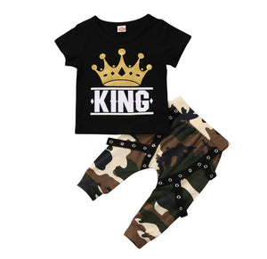 King Camo Short Sleeved Set
