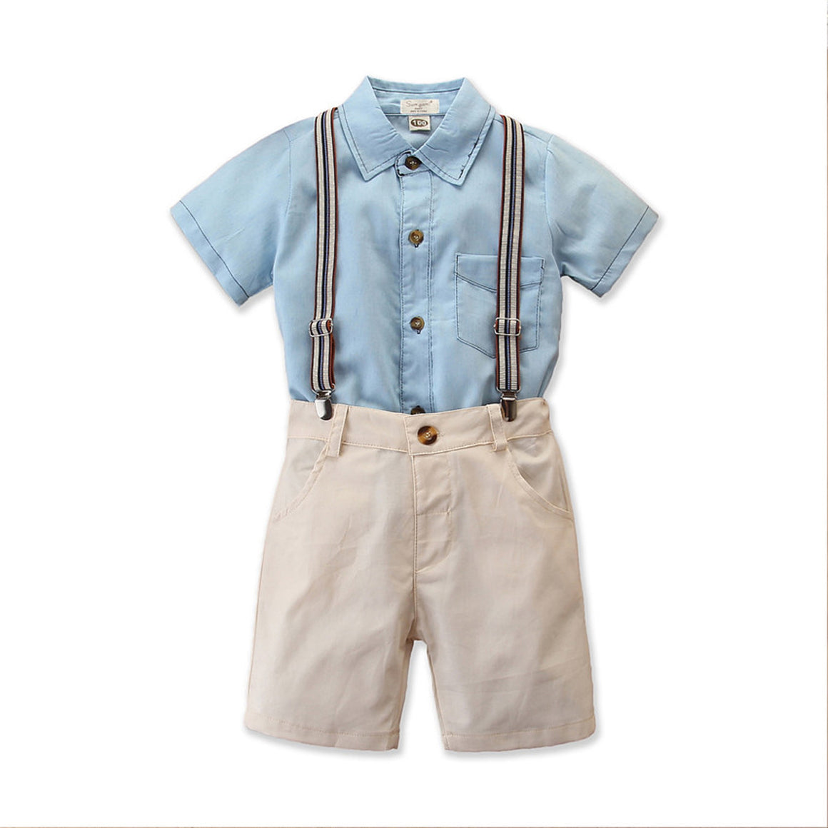 Hudson Shirt & Shorts Suspenders Set