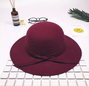 Bow Hat - Red Wine