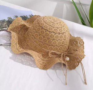 Chloe Beach Hat - Brown
