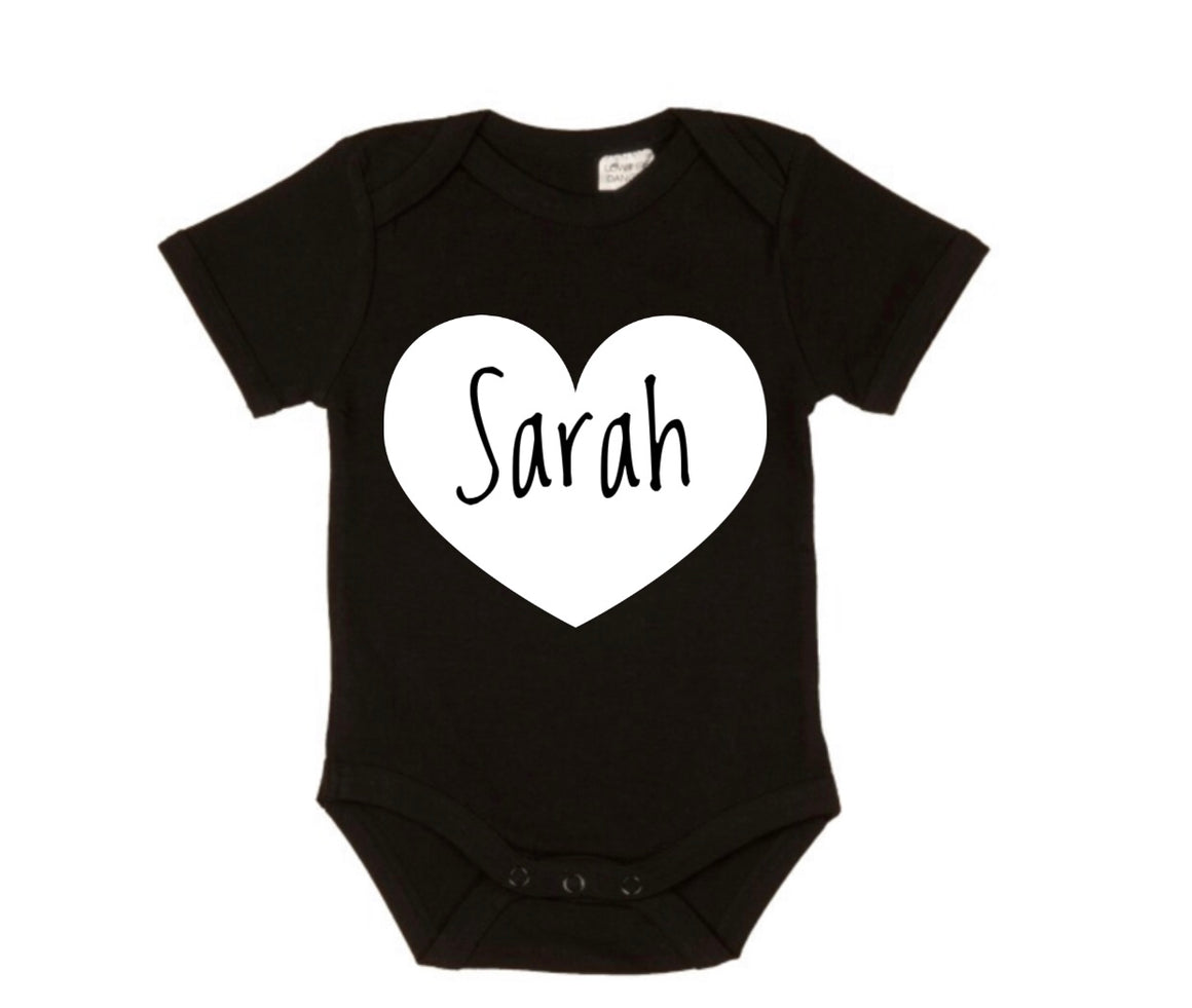 Personalised Heart Bodysuit