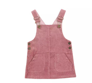 Stacey Overalls Dress - 4 Colours