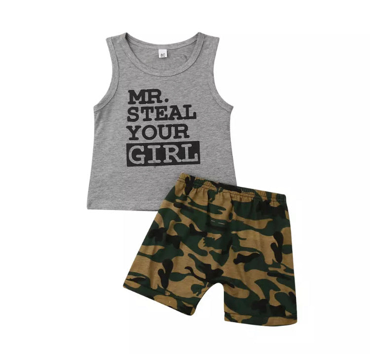 Mr Steal Your Girl Camo Set - Grey