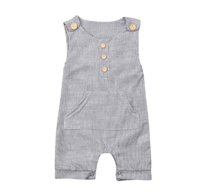 Striped Button Onesie