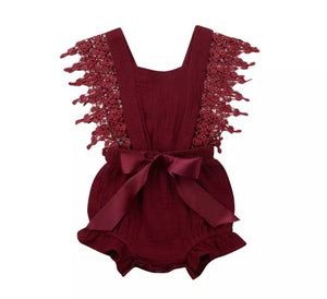 Claire Romper - Red Wine