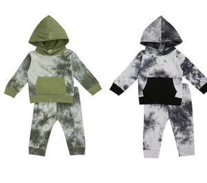 Tie-Dye Hooded Set - 2 Colours