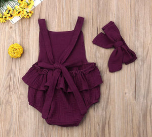 Everly Romper - Red Wine