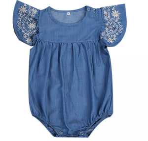 Alicia Denim Romper