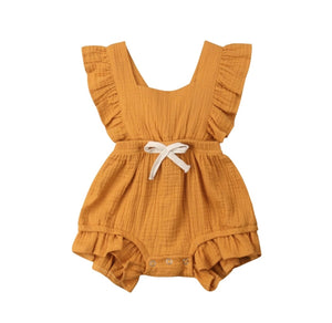 Amelia Romper-Sunburnt Orange