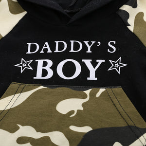 Daddy's Boy Camo Shorts Set