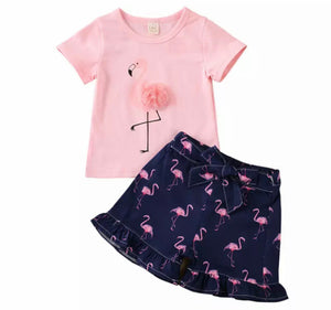 Flamingo Shorts Set