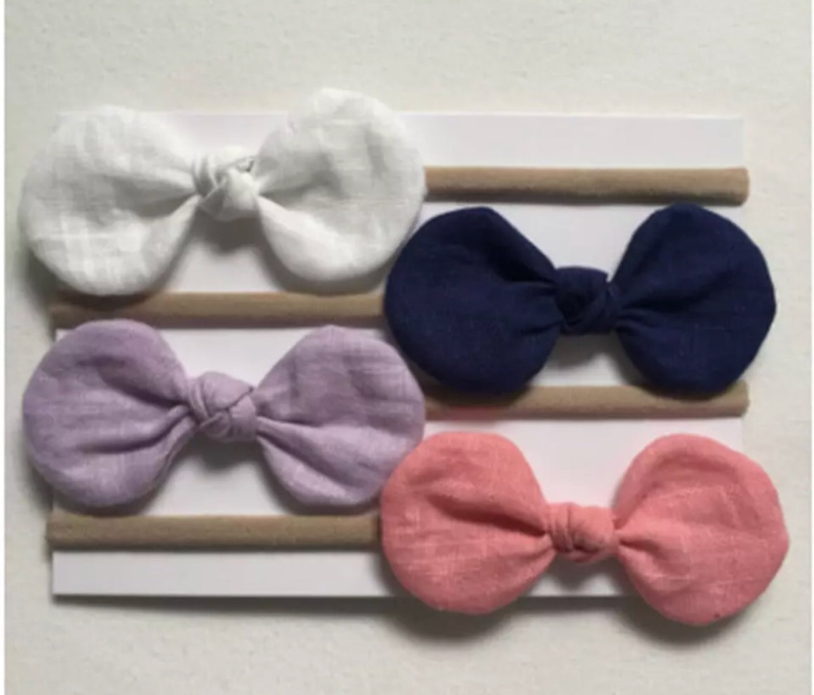 4 Piece Baby/Toddler Stocking Headbands