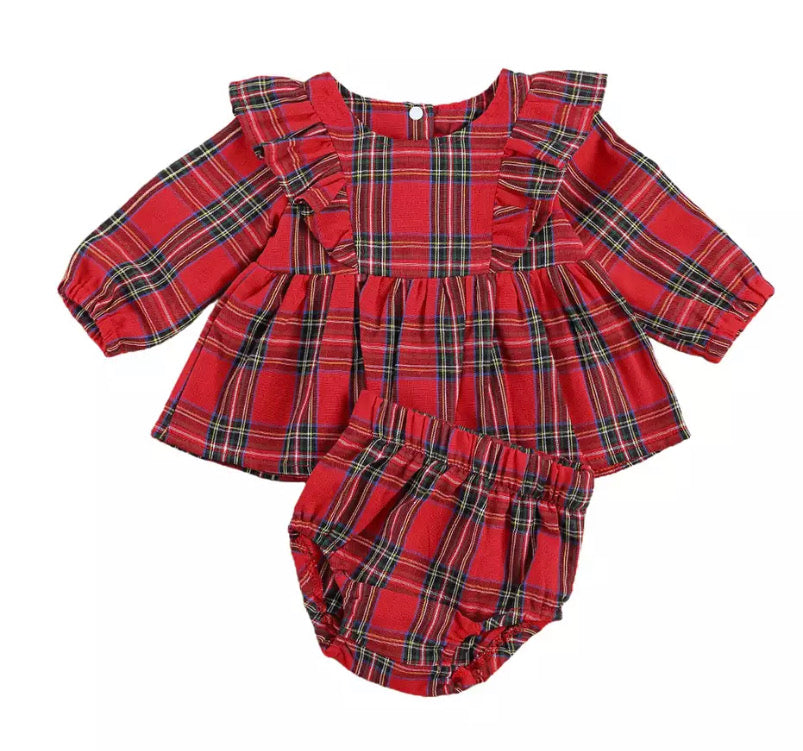 Plaid Bloomer Set