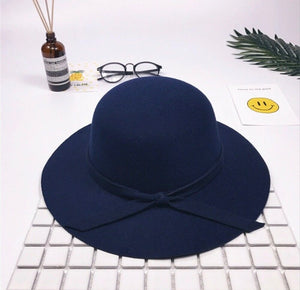 Bow Hat - Navy
