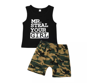 Mr Steal Your Girl Camo Set - Black