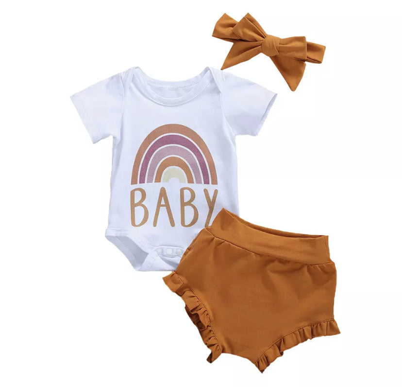 Rainbow Baby Bloomer Set