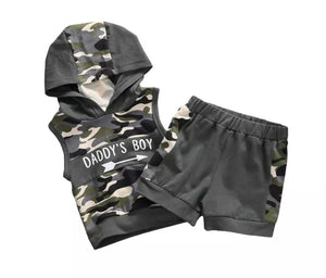 Daddy's Boy Hooded Camo Set