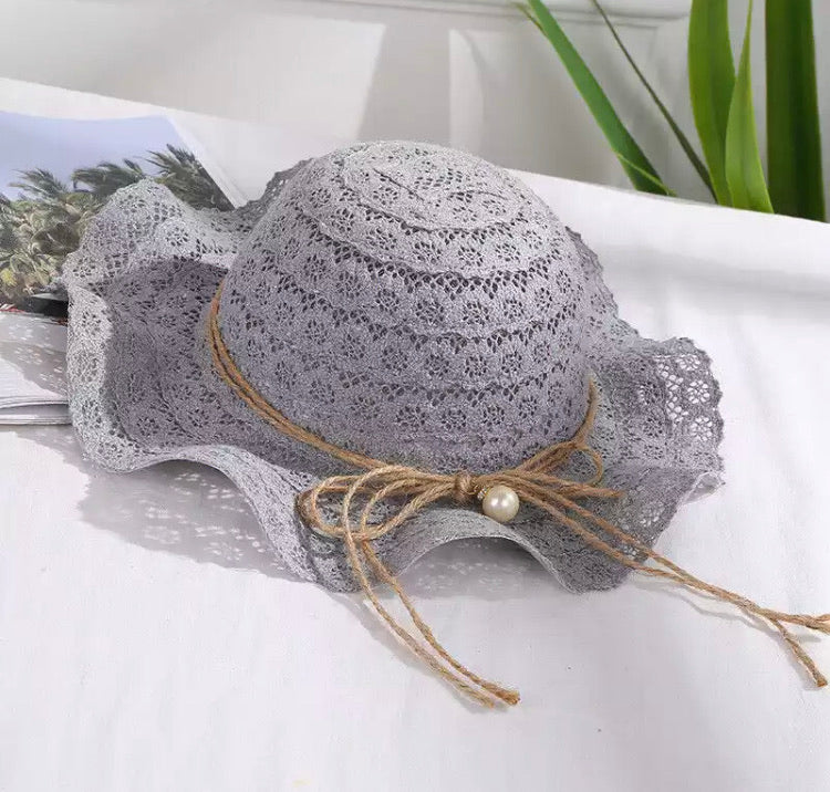 Chloe Beach Hat - Grey