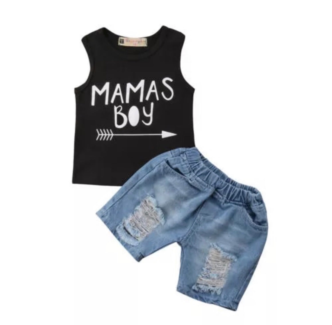Mamas Boy Denim Shorts Set