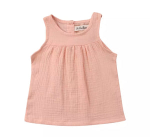 Chloe Sleeveless Loose Top-Pink