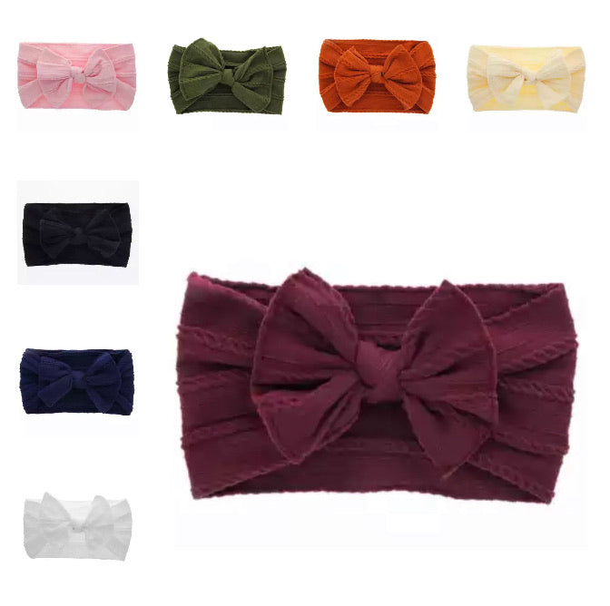 Cloth Bowknot Headband - 8 Colours