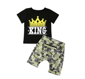 King Camo Shorts Set