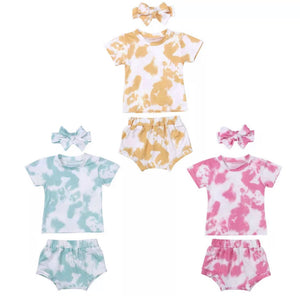 Tie Dye Tee & Bloomer Set - 3 Colours