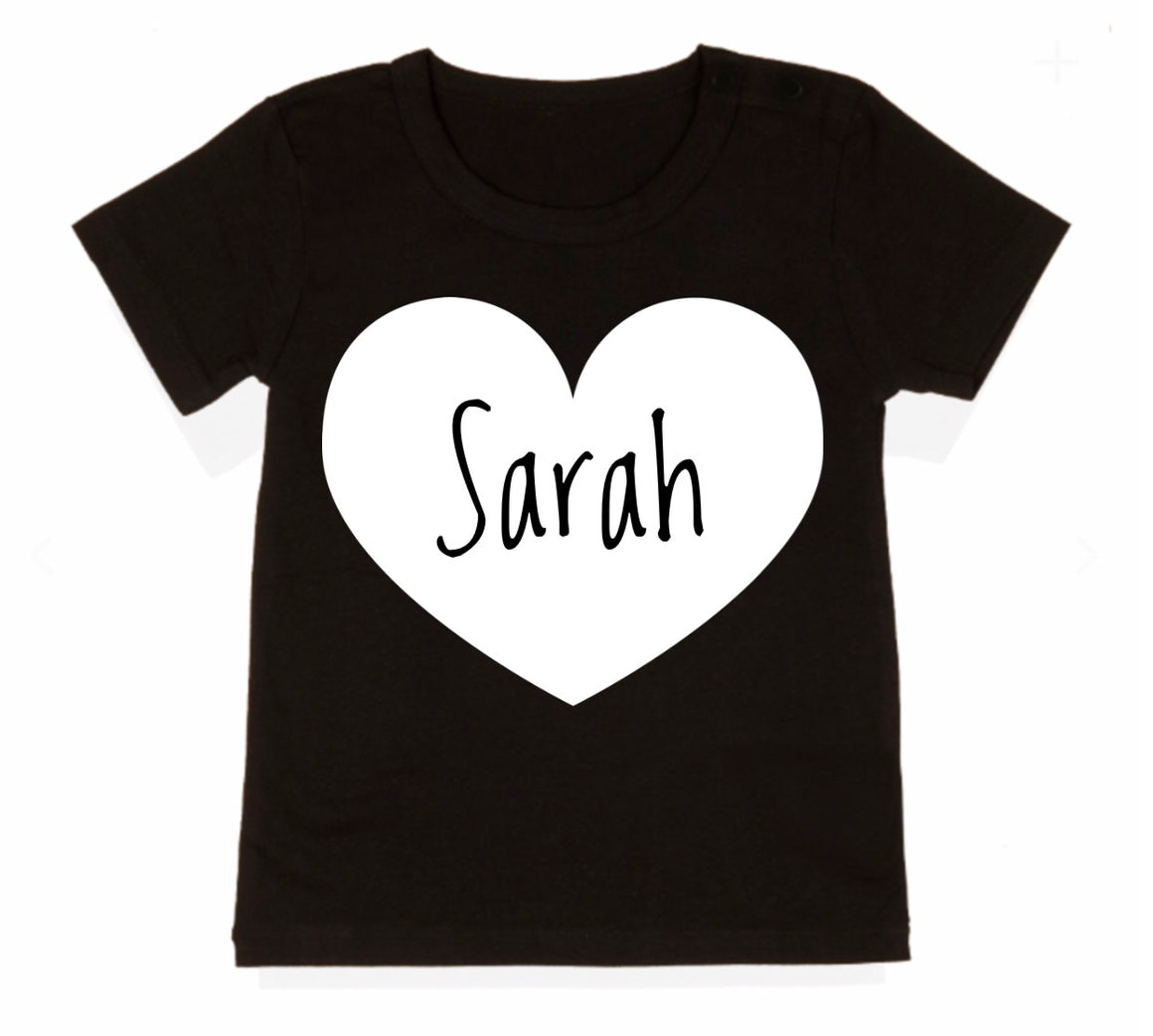 Personalised Heart Tee