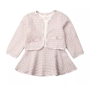 Plaid Jacket Set - Pink