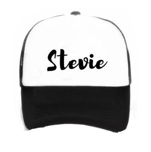 Personalised Kids Snap Back Hat - Black