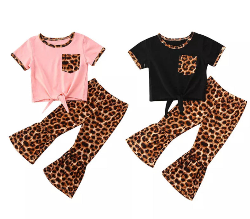 Leopard Print Flares Set - 2 Colours