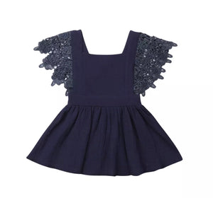 Bianca Dress-Navy