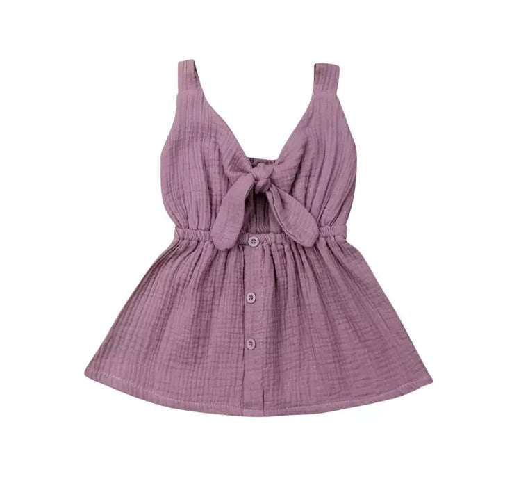 Emerson Bow Dress - Mauve