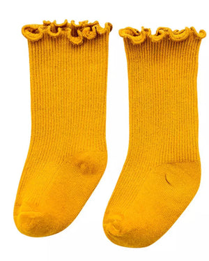 Seamless Ruffle Crew Socks - 6 Colours