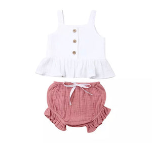 Emmie Set - White Pink
